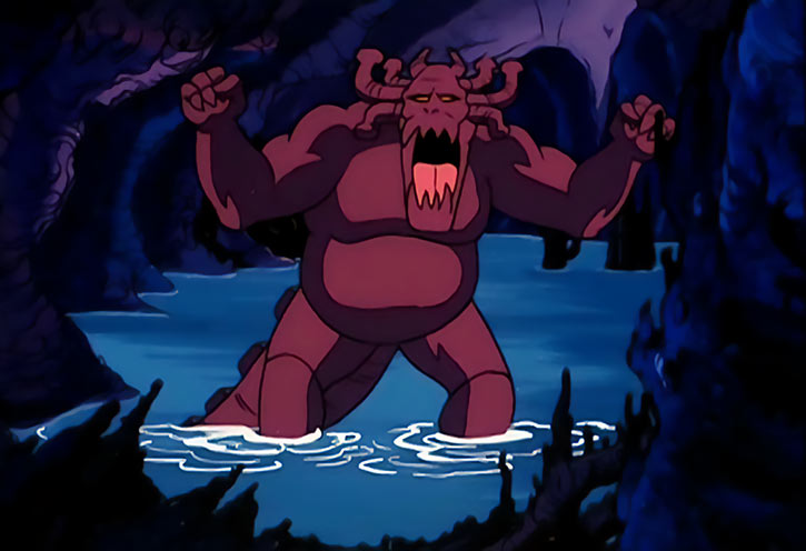 Masters of the Universe 1980s cartoon - Animals and monsters - Guardian monster in a sea cave