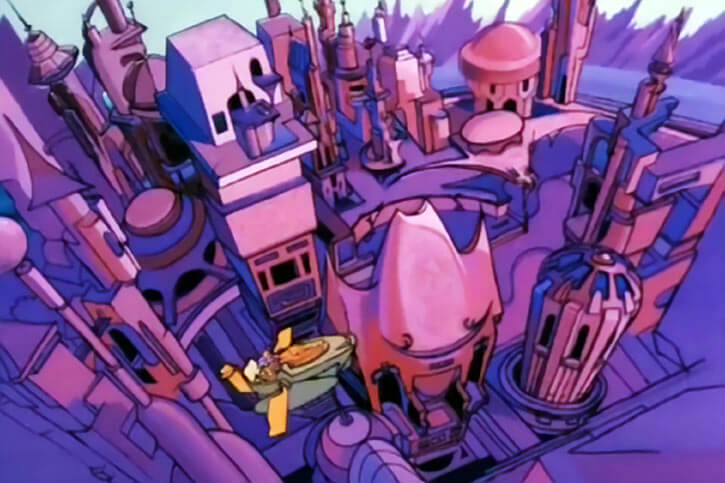 Masters of the Universe - 1980s cartoon - Royal palace aerial view