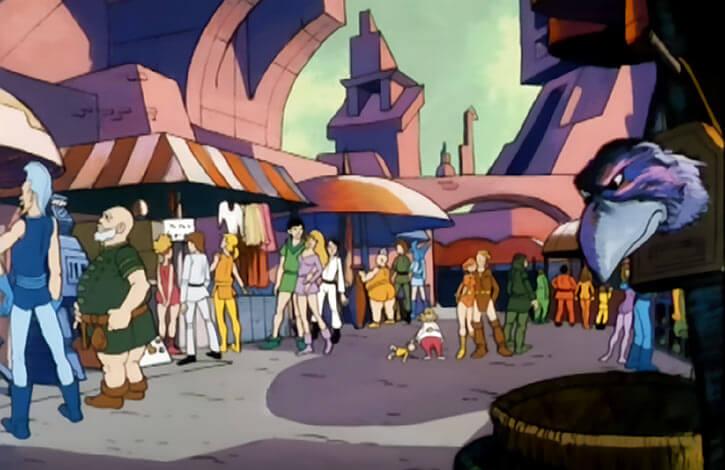 Masters of the Universe - 1980s cartoon - Market at the royal palace