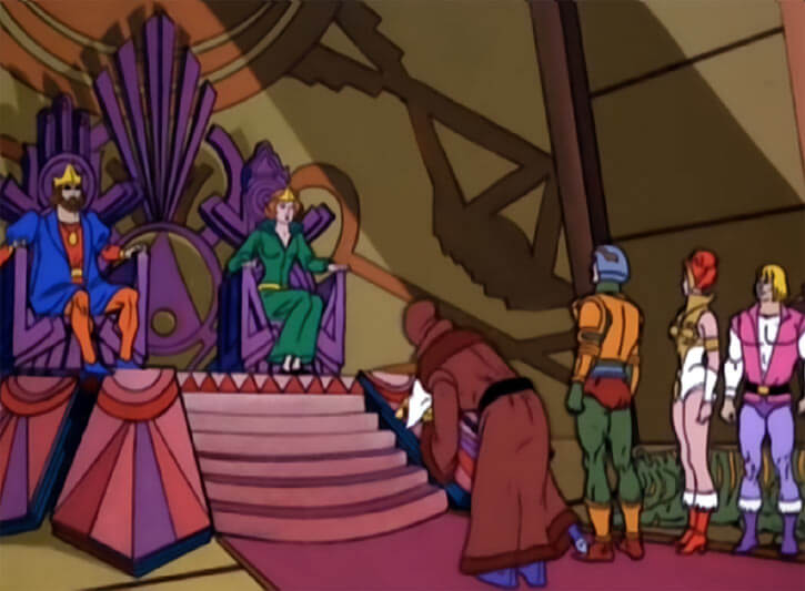 Masters of the Universe - 1980s cartoon - Throne room with the king and queen