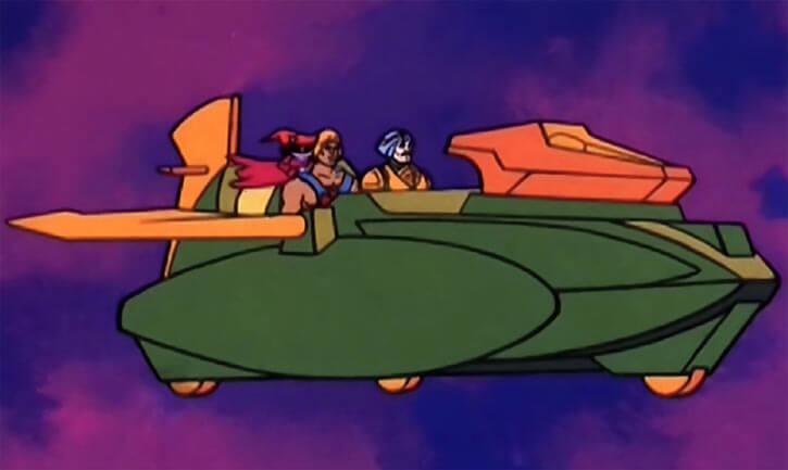 Masters of the Universe - 1980s cartoon - Wind raider in flight