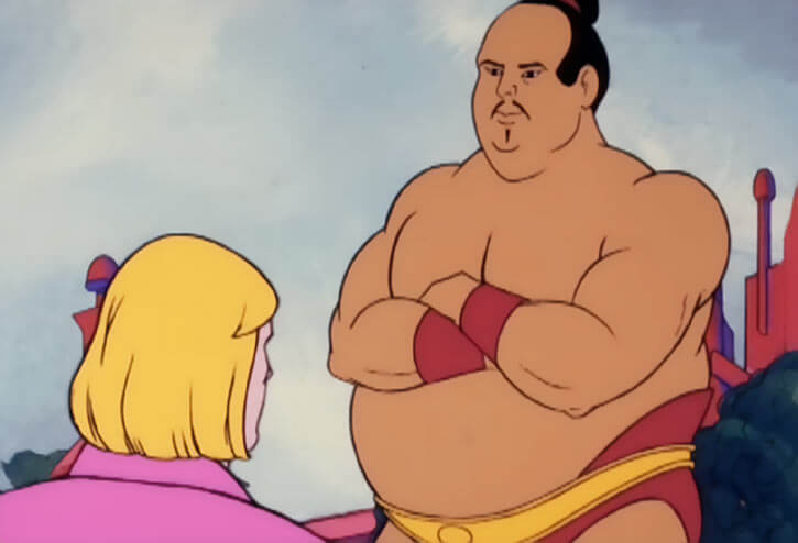 Masters of the Universe - 1980s cartoon - Mishi is Prince Adam's wrestling coach