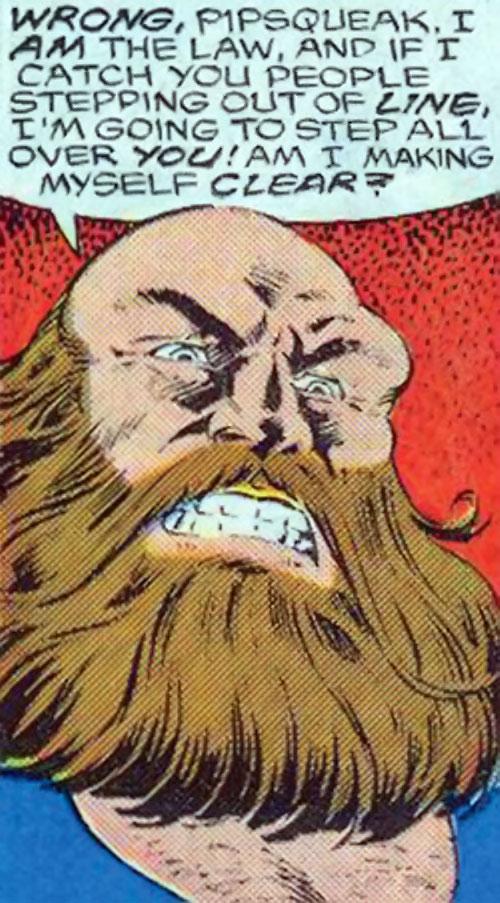 Mastodon DP7 (Marvel Comics New Universe) face closeup