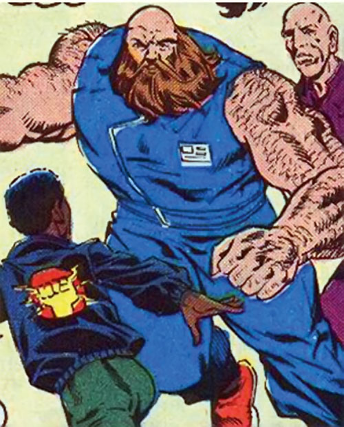Mastodon DP7 (Marvel Comics New Universe) in a blue jumpsuit