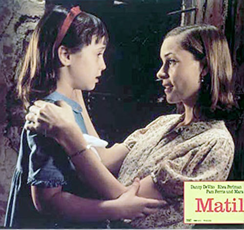 Matilda (Mara Wilson in Matilda) with Miss Honey