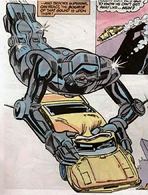 Matrix-Prime (Supergirl enemy) (DC Comics) captures a car