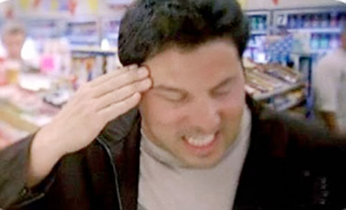 Matt Parkman (Greg Grunberg in NBC's Heroes) focusing his mind