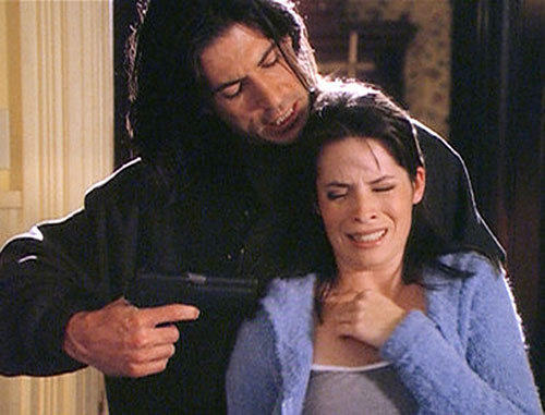 Matthew Tate (Billy Wirth in Charmed) warlock holding Piper at gunpoint