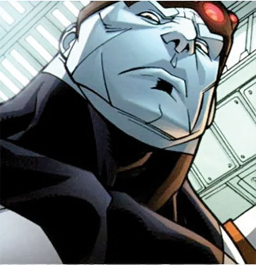Mauler Twins (Invincible enemy) (Image Comics) low angle face closeup