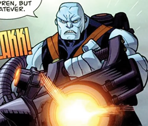 Mauler Twins (Invincible enemy) (Image Comics) firing a huge gun