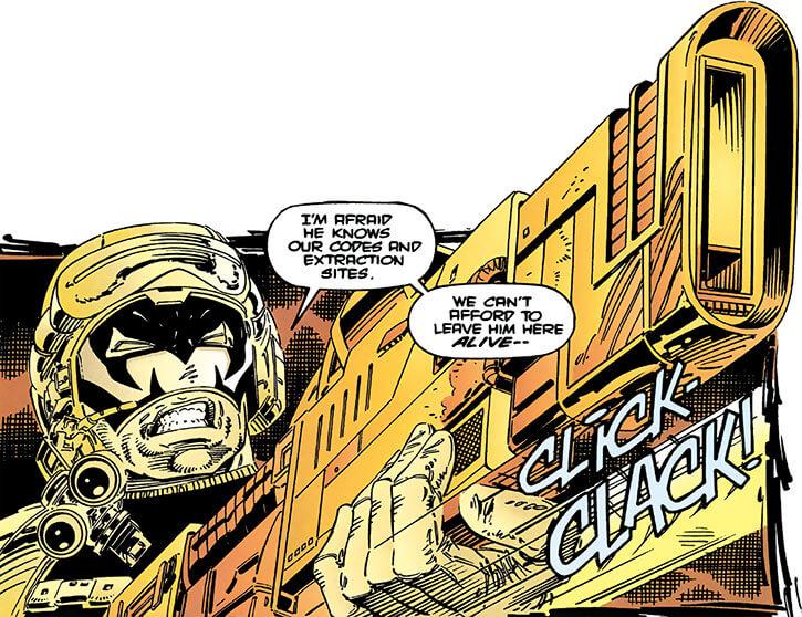Maverick (Christopher North) (Marvel Comics) flashback big gun