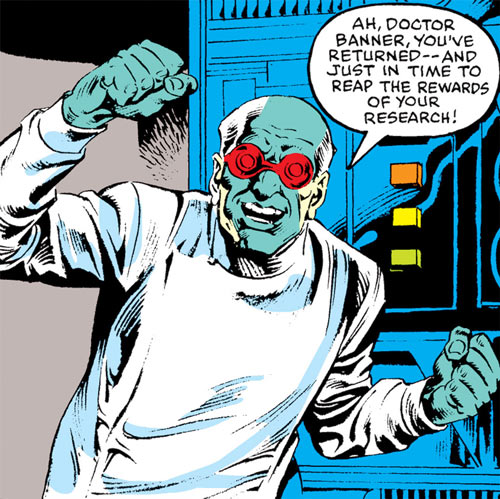 Max Hammer Stryker (Hulk enemy) (Marvel Comics) with lab coat and goggles