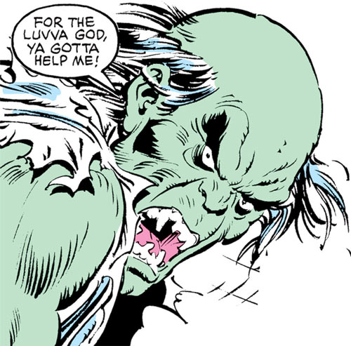 Max Hammer Stryker (Hulk enemy) (Marvel Comics) gamma mutate face