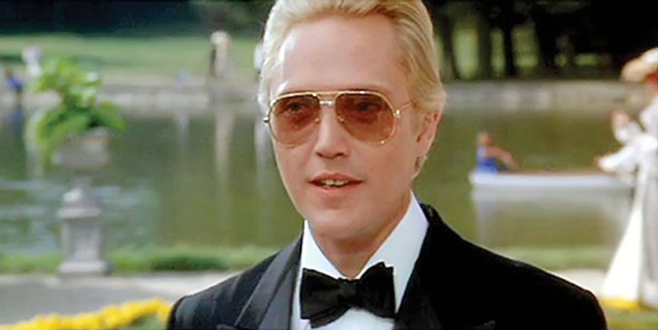 Max Zorin (Christopher Walken) near a pool