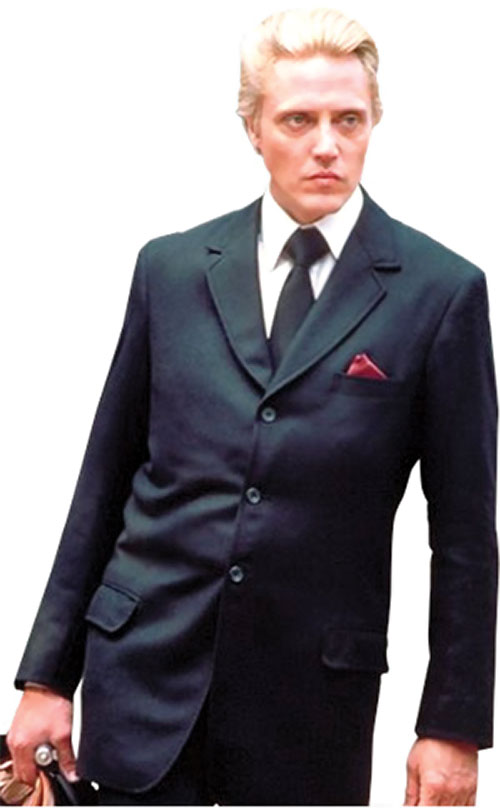 Max Zorin (Christopher Walken in James Bond A View To A Kill)