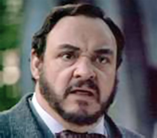 Professor Maximilian Arturo (John Rhys Davies in Sliders) face closeup