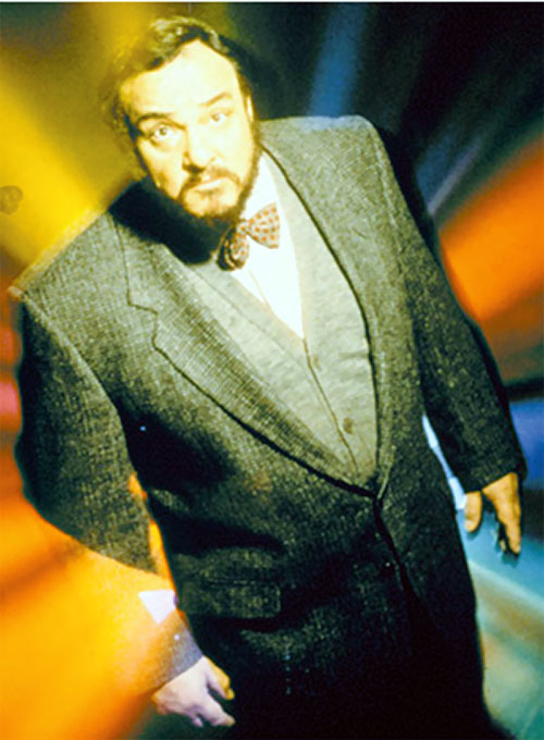 Professor Maximilian Arturo (John Rhys Davies in Sliders) amidst light effects