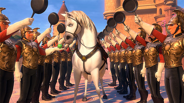 Maximus inspects soldiers with frying pans