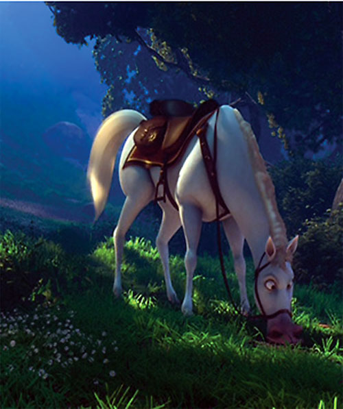 Maximus the horse (Disney's Tangled movie) grazing