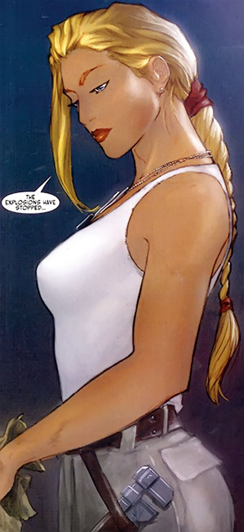 Maya Antares (Red Star Comics Image) white tank top and tools belt