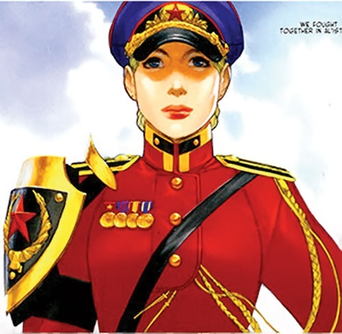 Maya Antares (Red Star Comics Image) in a red uniform