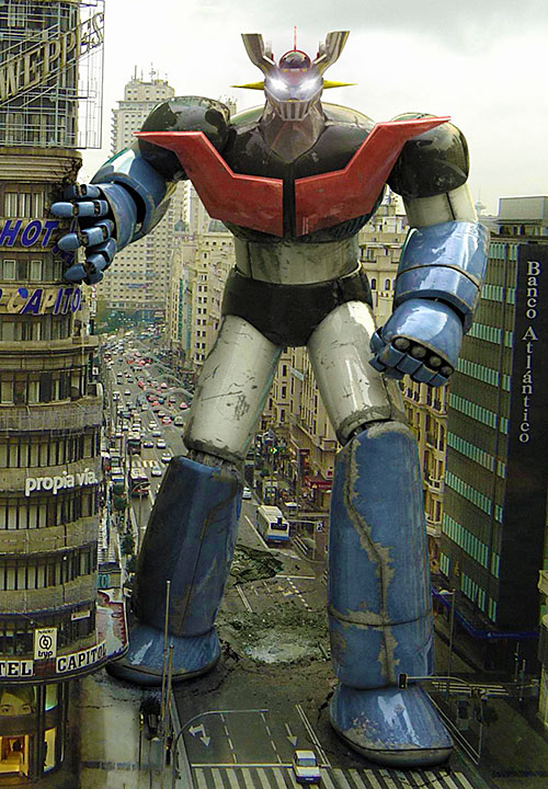 Mazinger Z in Argentina photorealistic art