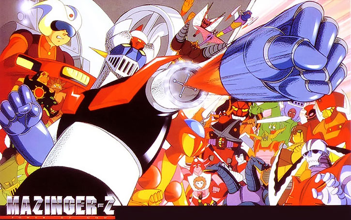 Mazinger-Z and related characters and foes
