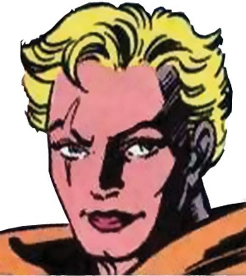 Meanstreak of the Extremists (JLA enemy) (DC Comics) face closeup