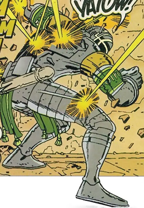 Mechamage (Fantastic 4 ally) (Marvel Comics) under fire
