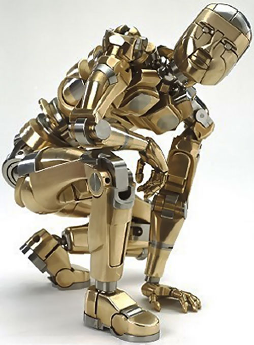 Mechanical metallic humanoid