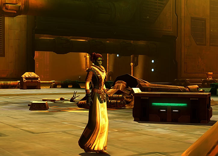 Meeyelle Jedi Consular - Star Wars Old Republic MMO - Force saint walking