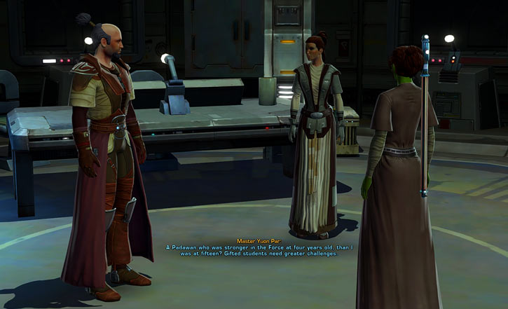 Meeyelle Jedi Consular - Star Wars Old Republic MMO - With Master Bakarn and Master Par