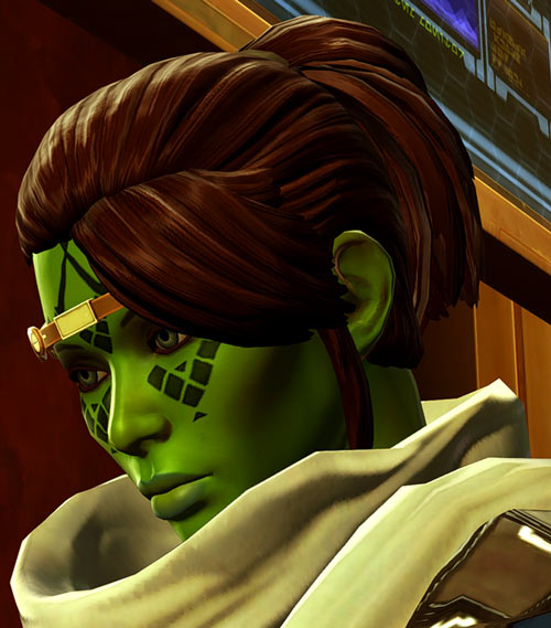 Meeyelle Jedi Consular - Star Wars Old Republic MMO - Pondering