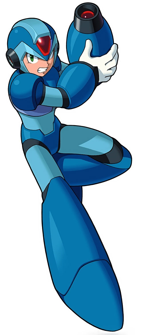 Mega Man (Rockman) leaps in