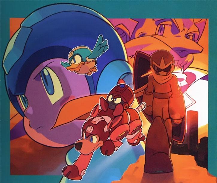 Mega Man aka Rockman and allies