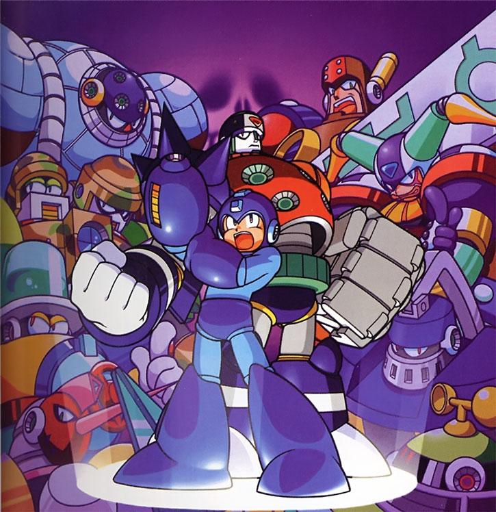 Megaman aka Rockman and other robots