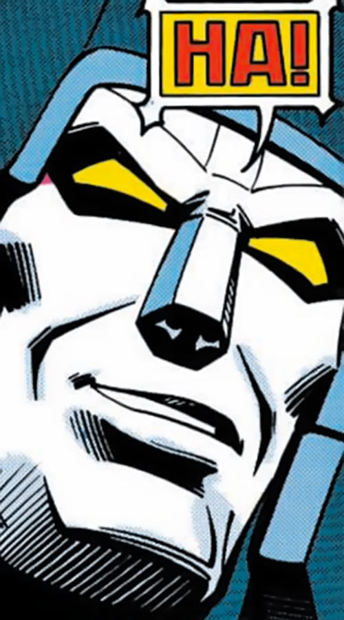 Megatron (Transformers) (Marvel Comics 1980s version) face closeup