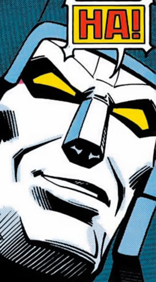 Megatron (Transformers) (Marvel Comics 1980s version) face closeup