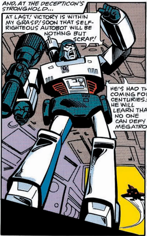 Megatron (Transformers) (Marvel Comics 1980s version) yelling as usual