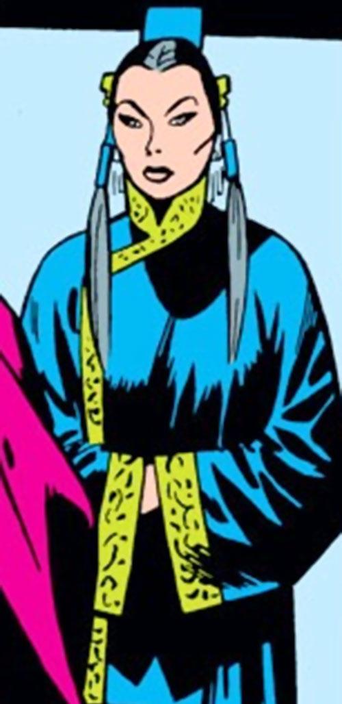 Mei Ling (Mandarin) (Iron Man character) (Marvel Comics) in a blue dress