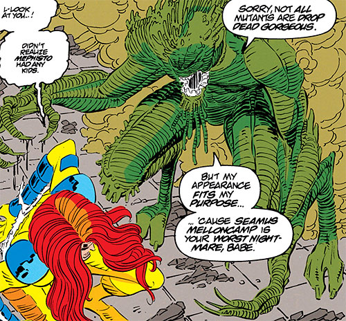 Mellencamp of the Acolytes of Magneto (X-Men enemy) (Marvel Comics) vs. Jean Grey