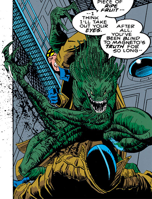 Mellencamp of the Acolytes of Magneto (X-Men enemy) (Marvel Comics) vs. Multiple Man