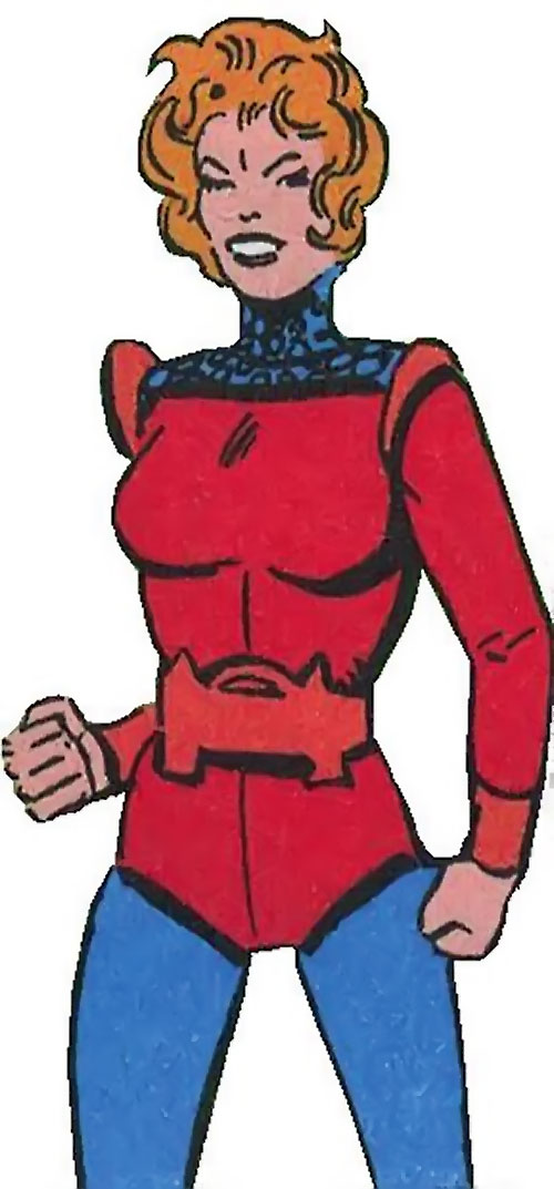 Mellu Loron (Shade the Changing Man) (DC Comics Ditko) in red and blue
