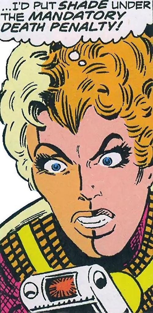 Mellu Loron (Shade the Changing Man) (DC Comics Ditko) face closeup