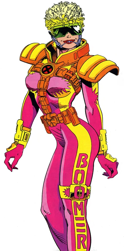 Boomer of X-Force (Tabitha Smith) (Marvel Comics) in her hot pink costume