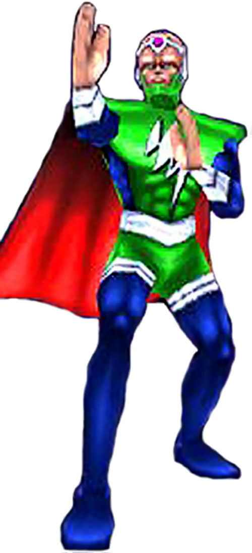 Mentor of the Freedom Force in his green costume