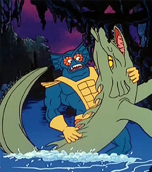Mer-Man - He Man Masters Universe cartoon - Alligator fish wrestling