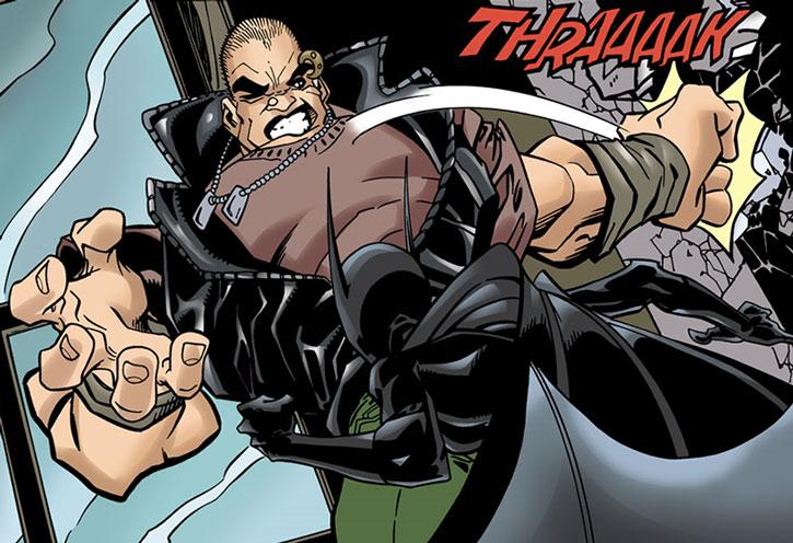 Meta attempts to backhand Batgirl