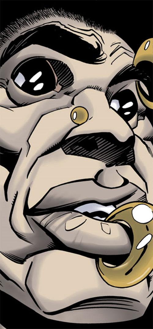 """Meta"" (Batgirl enemy) (DC Comics) face closeup"