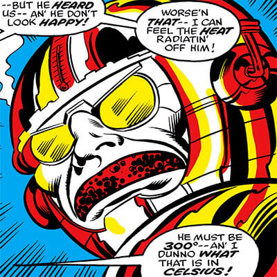 The Metalloid (Marvel Comics) head closeup